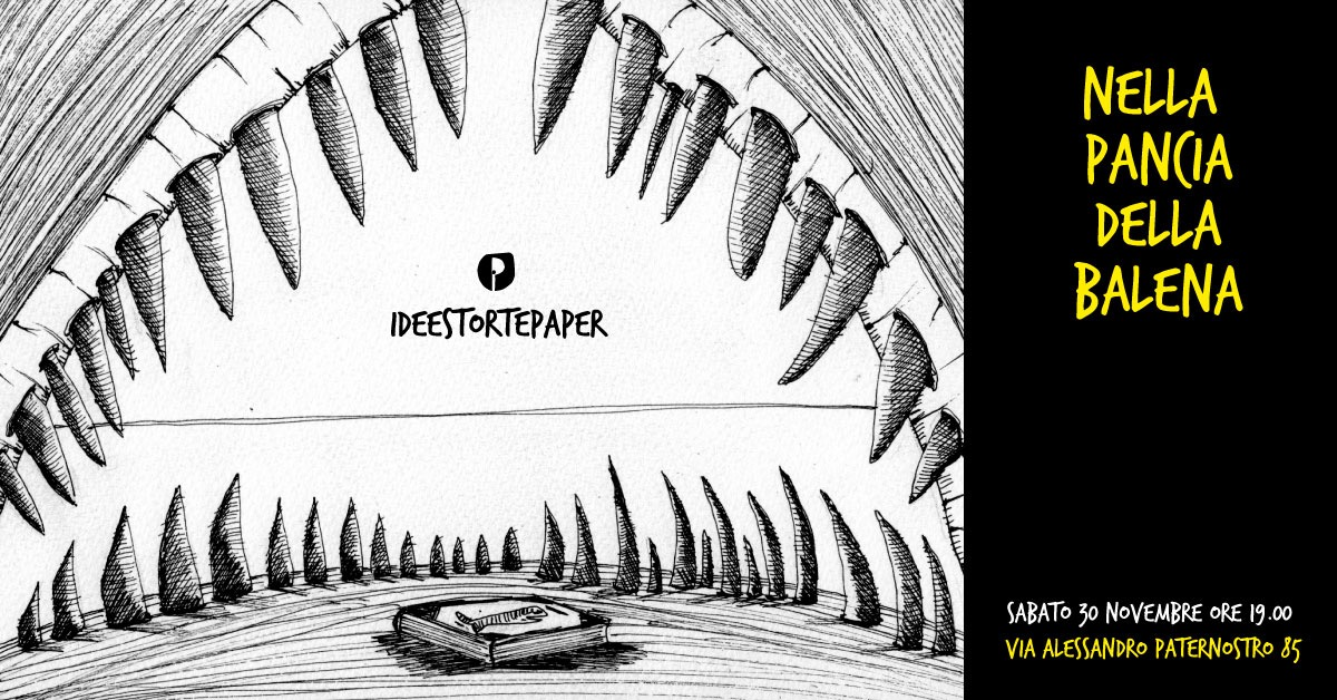 La locandina dell'evento di illustrazioni e letture Ideestortepaper
